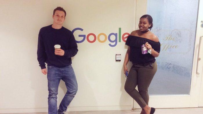 Joseph and Afia at Google UK