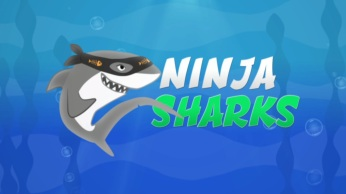ninja sharks (kids) - title graphic still